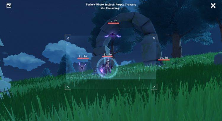 Genshin Impact Kurious Kamera Purple Creatures Guide Five Flushes Of Fortune 2