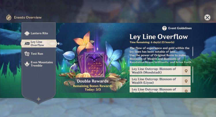 Genshin Impact Ley Line Overflow Event Double Rewards Hero's Wit 1