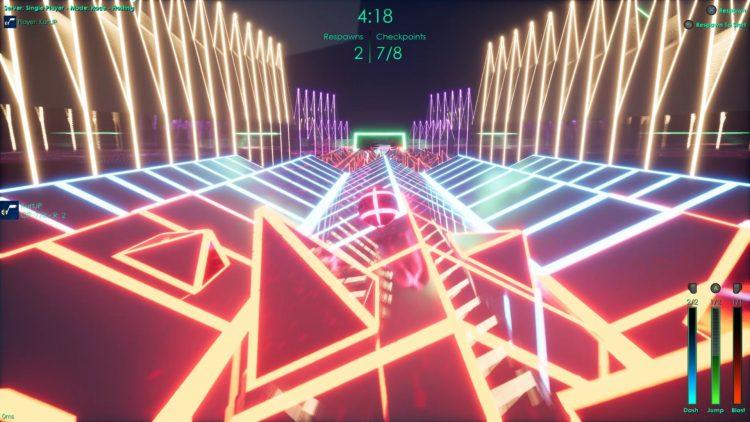 Kinetic Edge Review Neon Lights