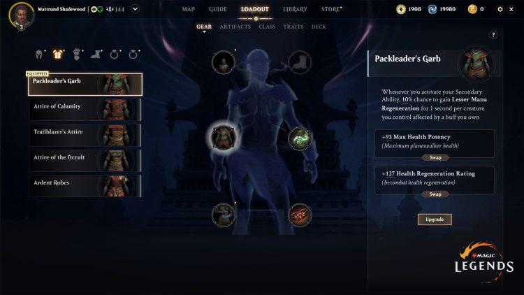 Magic Legends Equipment System