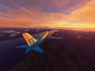 Microsoft Flight Simulator A320 Patagonia Sunrise 2