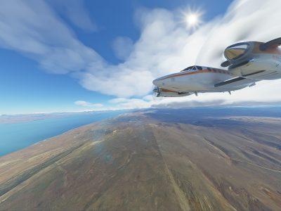MSFS - King Air In Patagonia
