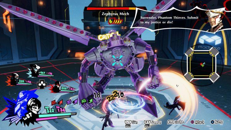 Persona 5 Strikers Zephyrus Mech