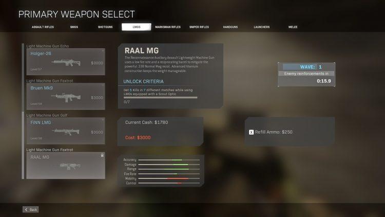 Warzone Raal Mg Early Unlockl