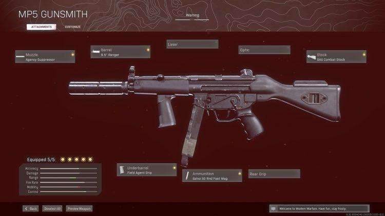 WS Cold War Mp5 Gunsmith