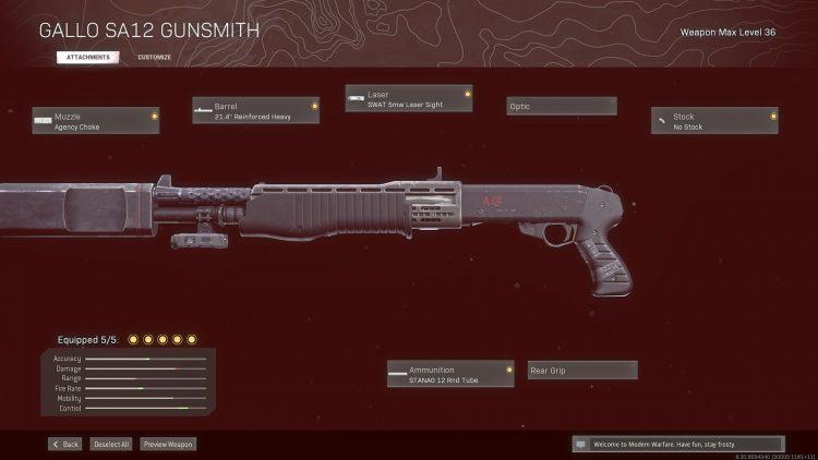 Warzone Solos Gallo Sa 12 Gunsmith