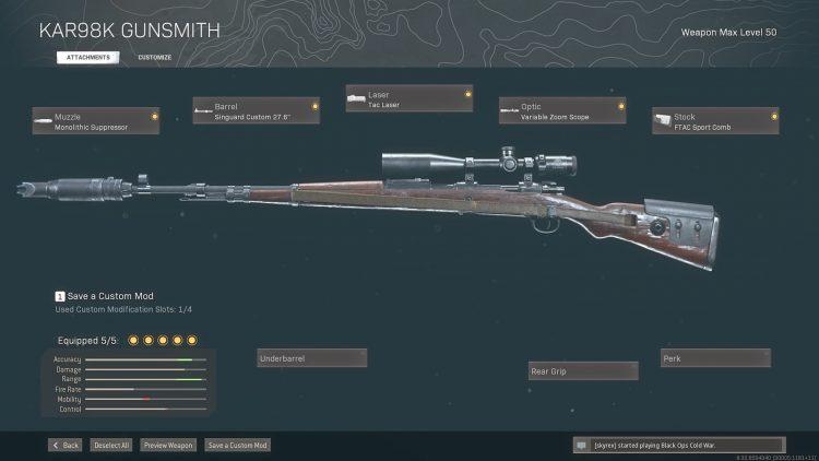 WS Kar98k Gunsmith