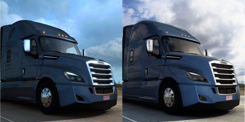 American Truck Simulator Old Vs New Light