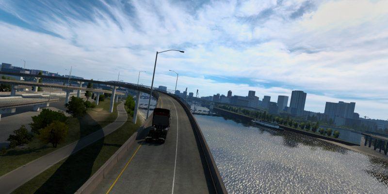 American Truck Simulator Update 1.40 Bridge Skies