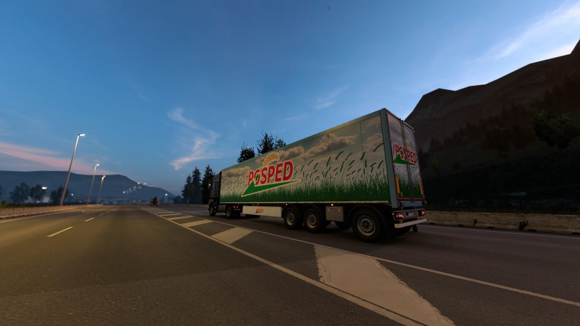Euro Truck Simulator 2 Update 1.40 Evening Trailer