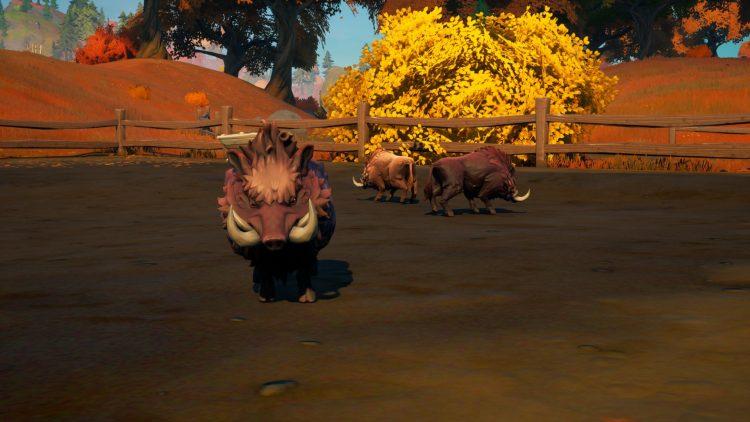 Fortnite Season VI tame pig animals