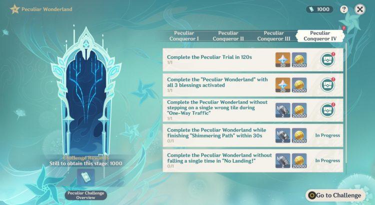 Genshin Impact Peculiar Wonderland Peculiar Conqueror Iv Peculiar Conqueror 4 Challenges Rewards 2