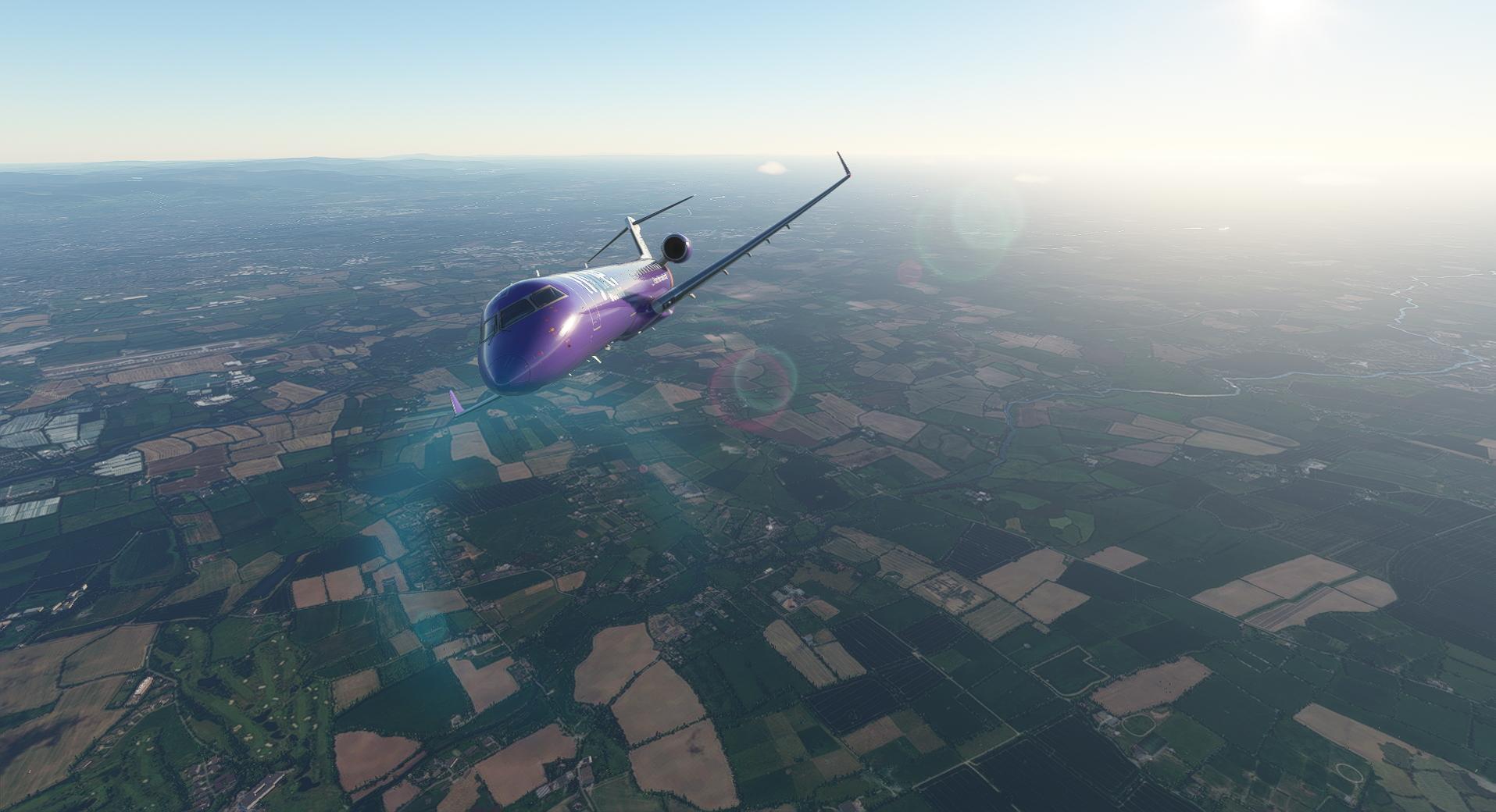Microsoft Flight Simulator Aerosoft Crj 550 700 Flybe Bank