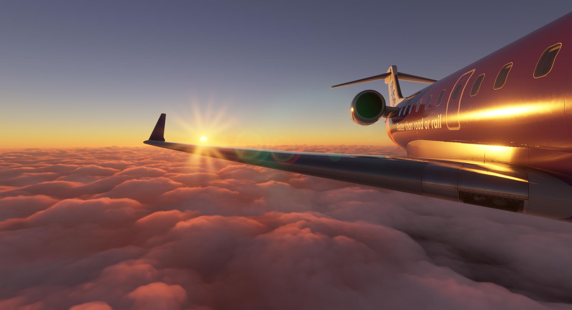 Microsoft Flight Simulator Aerosoft Crj 550 700 Wing Rear