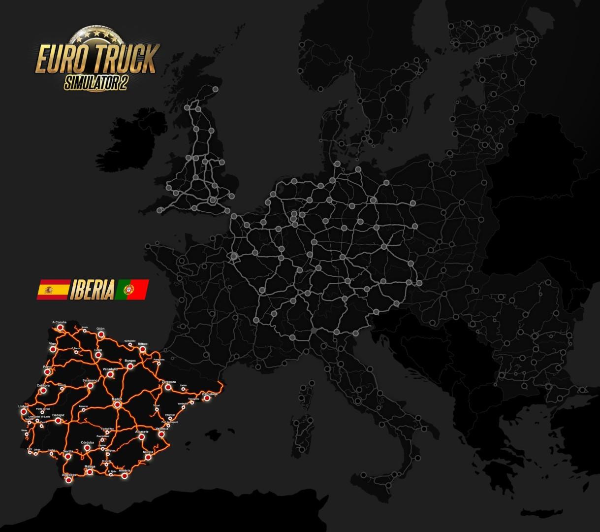 Scs Software Euro Truck Simulator 2 Iberia Expansion Map