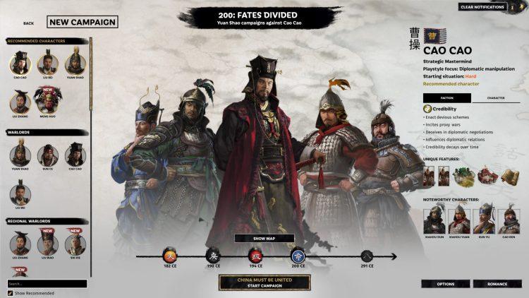 Total War Three Kingdoms Fates Divided Cao Cao Guide 1