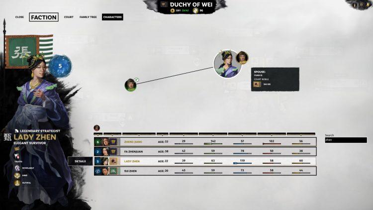 Total War Three Kingdoms Fates Divided Cao Pi Zhen Ji Lady Zhen Marriage Guide 1a
