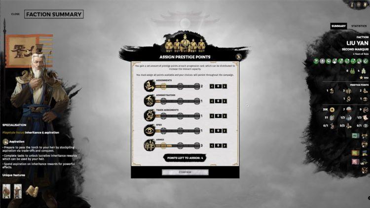 Total War Three Kingdoms Fates Divided Faction Ranks Rework Prestige Points Guide 2
