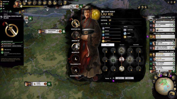Total War Three Kingdoms Fates Divided Ханьский император Сянский император Лю Се Восстановить Ханьскую империю Руководство 2a
