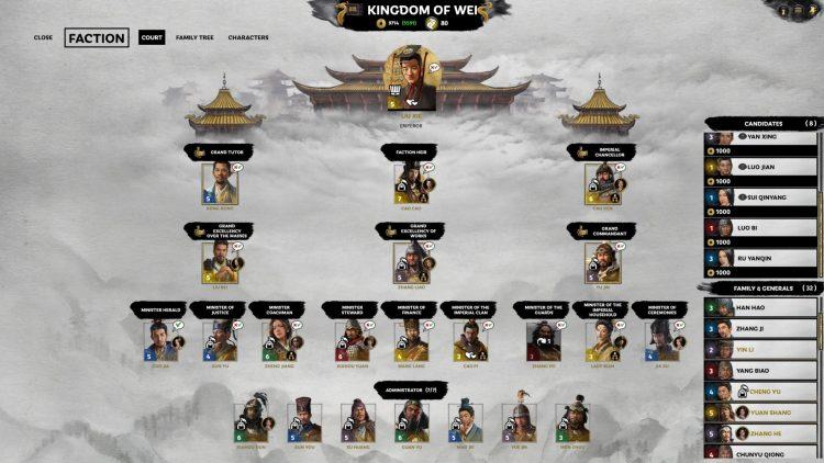 Total War Three Kingdoms Fates Divided Ханьский император Сянский император Лю Се Восстановить Ханьскую империю Руководство 3