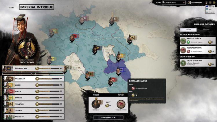 Total War Three Kingdoms Fates Divided Руководство по имперским интригам Enemy Of The Han Imperial Favor 2b