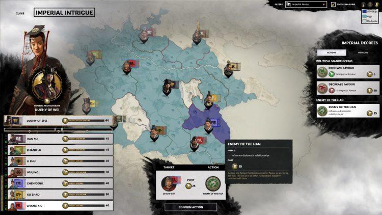 Total War Three Kingdoms Fates Divided Руководство по имперским интригам Enemy Of The Han Imperial Favor 3a