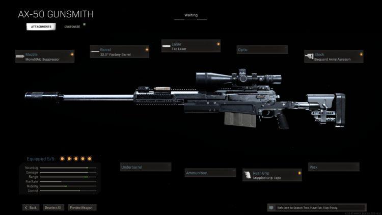 Warzone Ax 50 Build