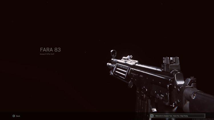 Warzone Fara 83 Submachine Gun