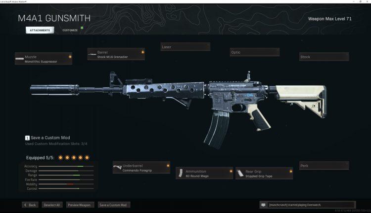 Warzone M4a1 Build