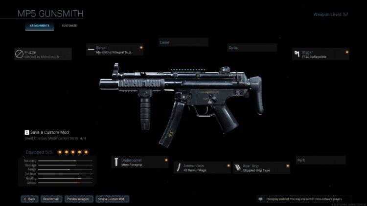 Warzone Mp5 Build Gunsmith