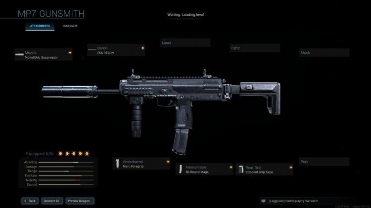 Warzone Mp7 Build Gunsmith