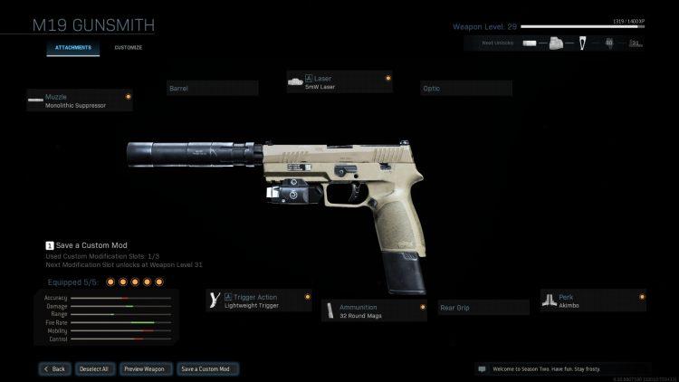 Warzone Akimbo M19 Gunsmith