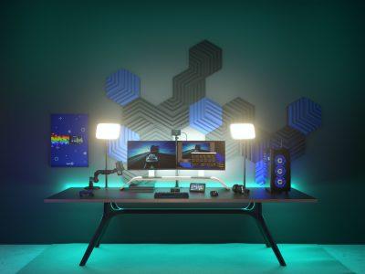 Elgato Wave Panels Lifestyle Shot 04 Gaming Room B