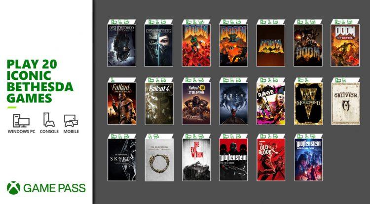 Bethesda 20 Games Xbox Game Pass