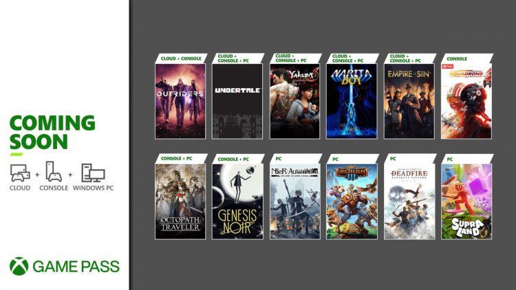 Xbox Game Pass Pc Nier Automata Undertale March