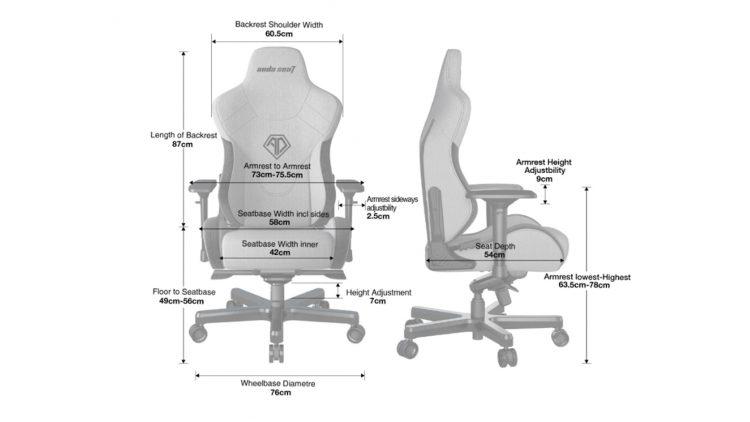 Anda Seat T Pro 2 Dimensions