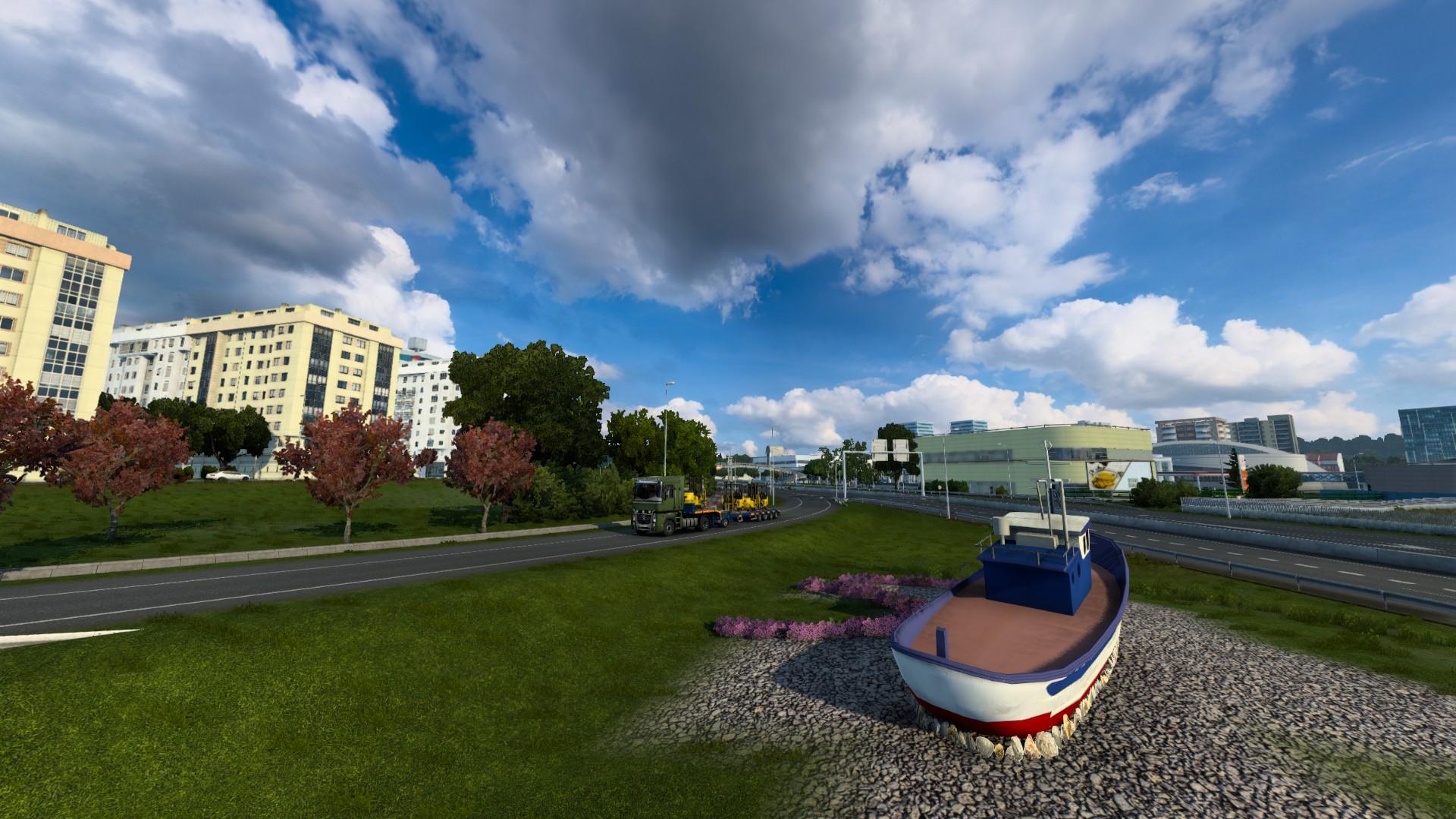 Euro Truck Simulator 2 Iberia A Coruna Boat