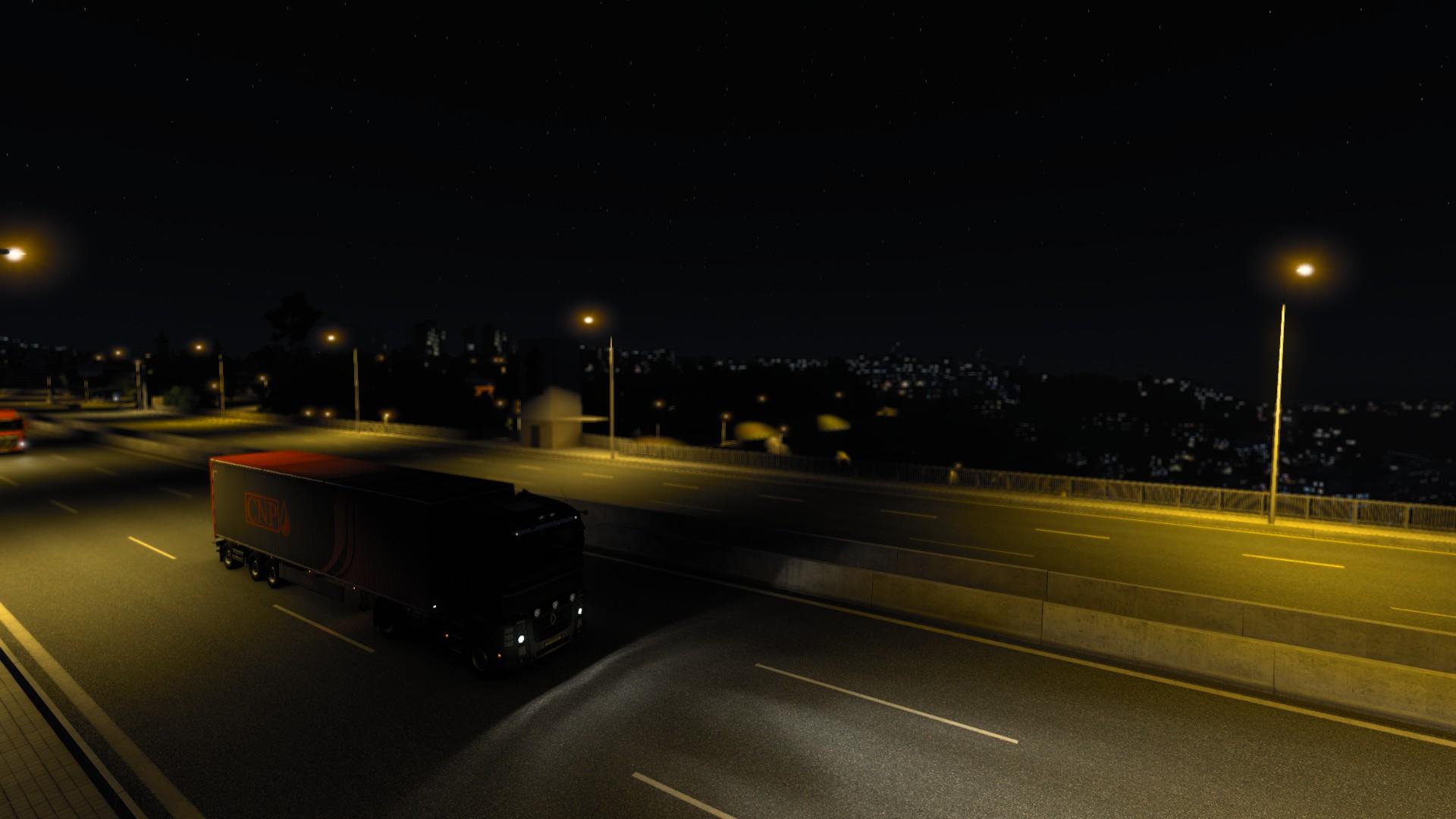 Euro Truck Simulator 2 Night Roller