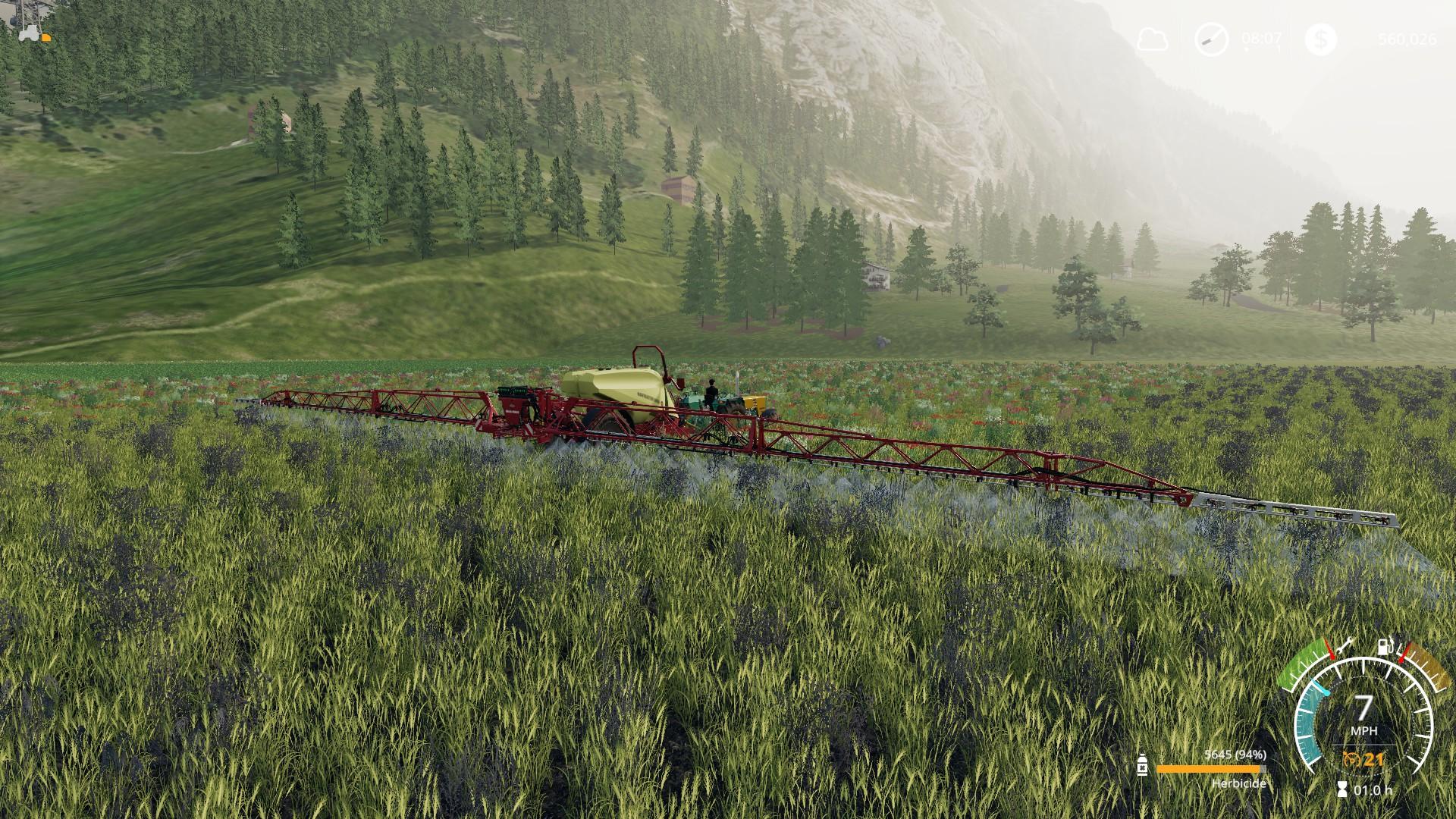Farming simulator 19 pieces alpine weed killer