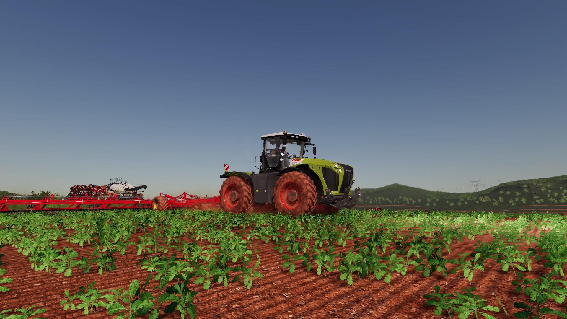 Farming Simulator 19 Pc Bourgault Dlc Big Claas On The Field