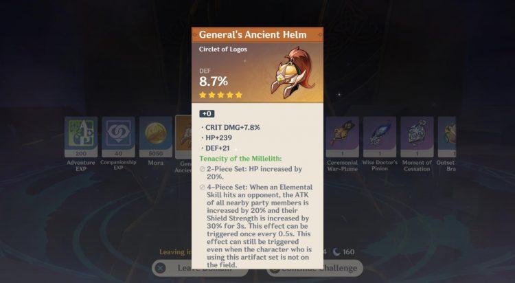 Genshin Impact Ridge Watch Domain Guide New Artifacts Pale Flame Tenacity Of The Millelith 2