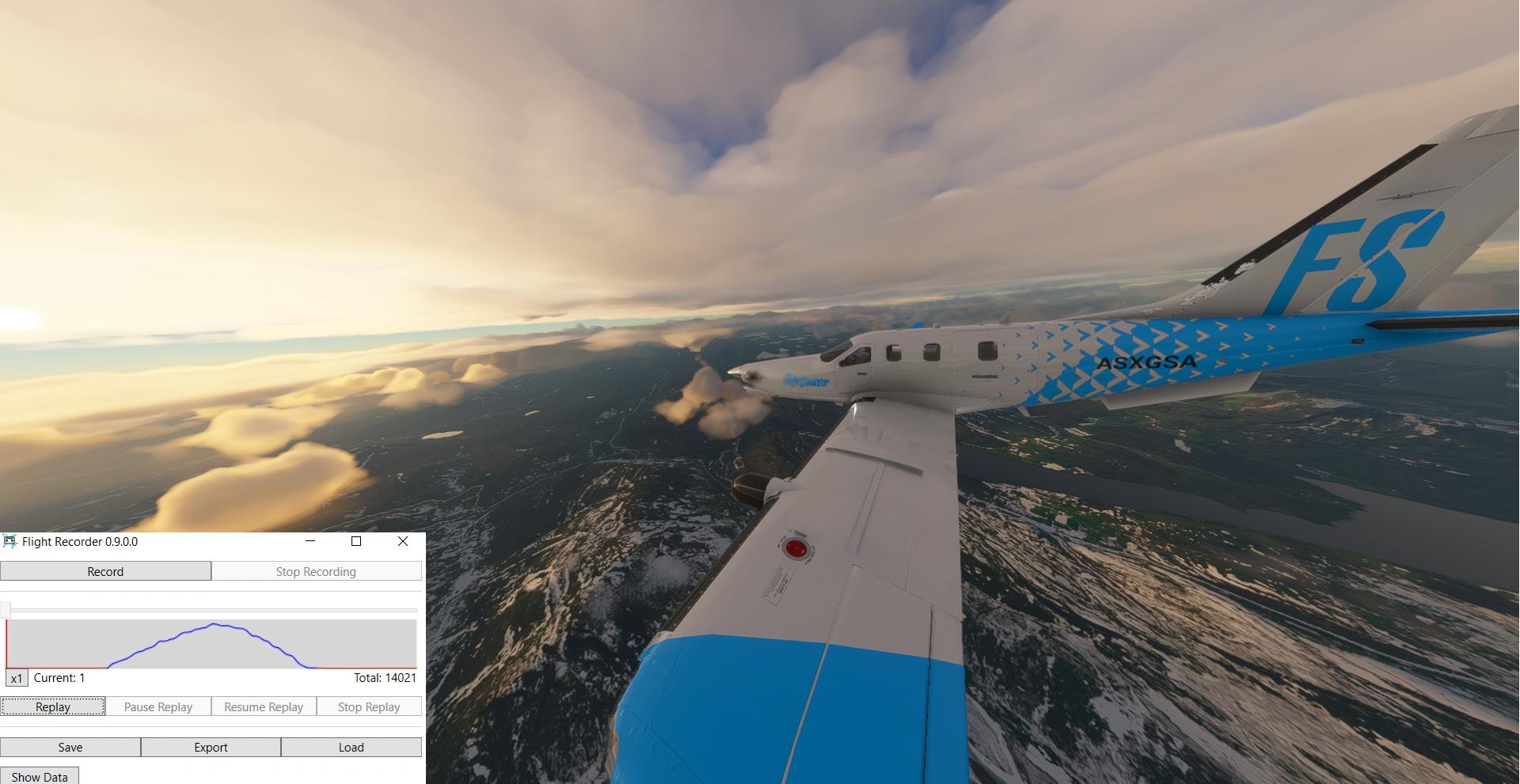 Microsoft Flight Simulator Flightrecorder Tbm