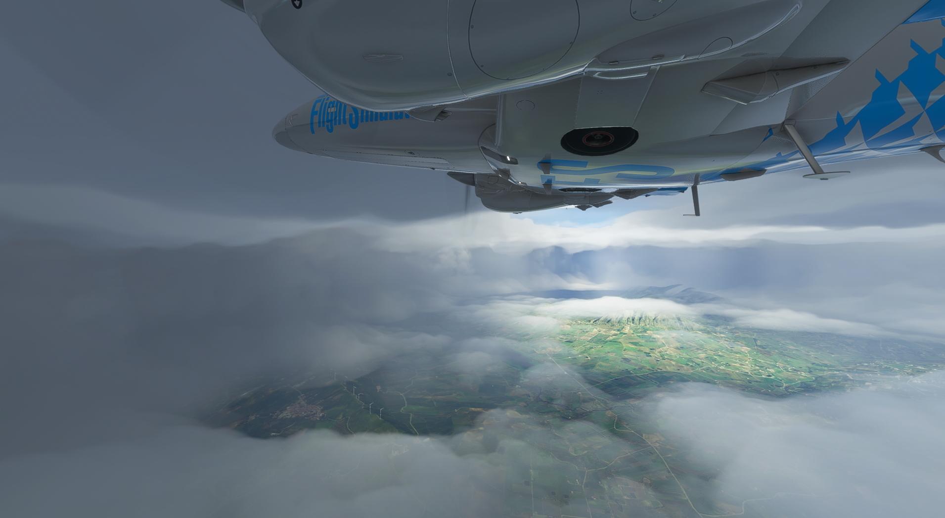 Microsoft Flight Simulator Hole in the Clouds
