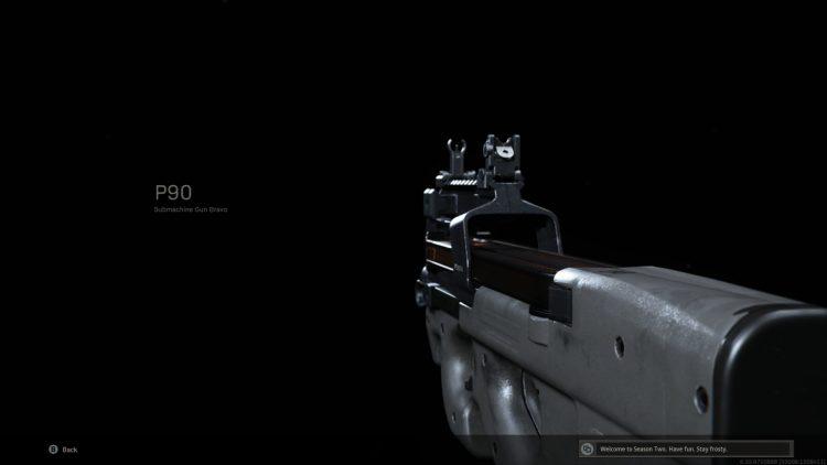 Warzone P90 Submachine Gun Class