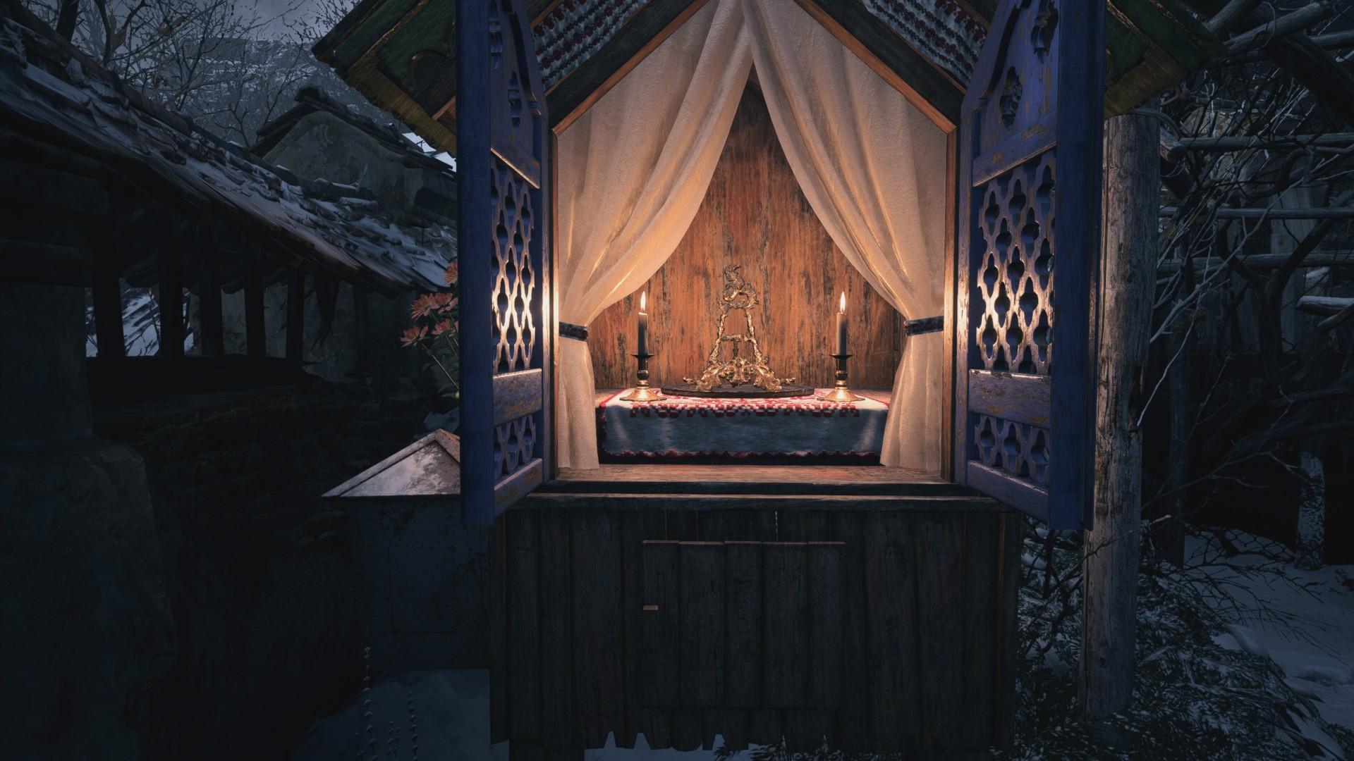 Ворота с гербом Resident Evil Village