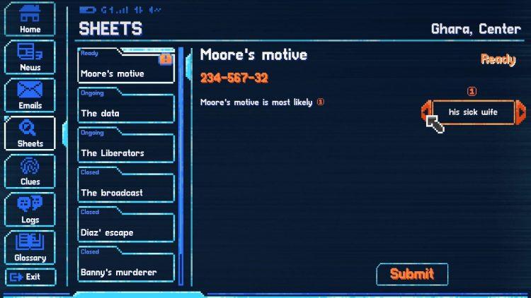 Lacuna review gameplay menu