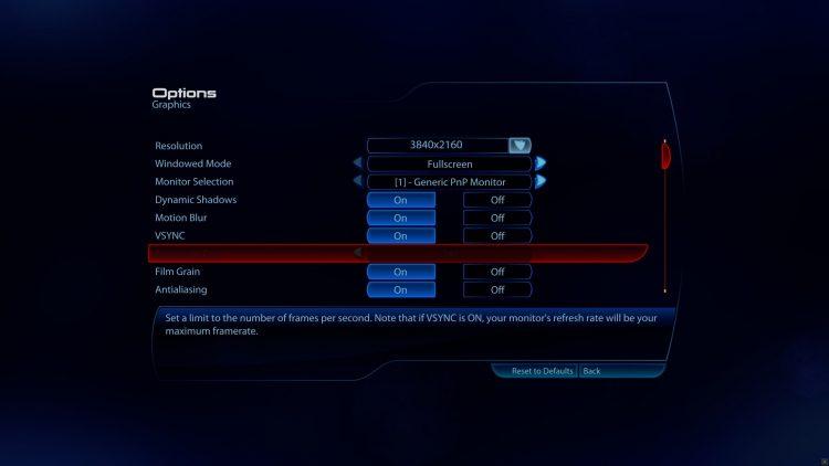 Mass Effect legendary edition tech review menu