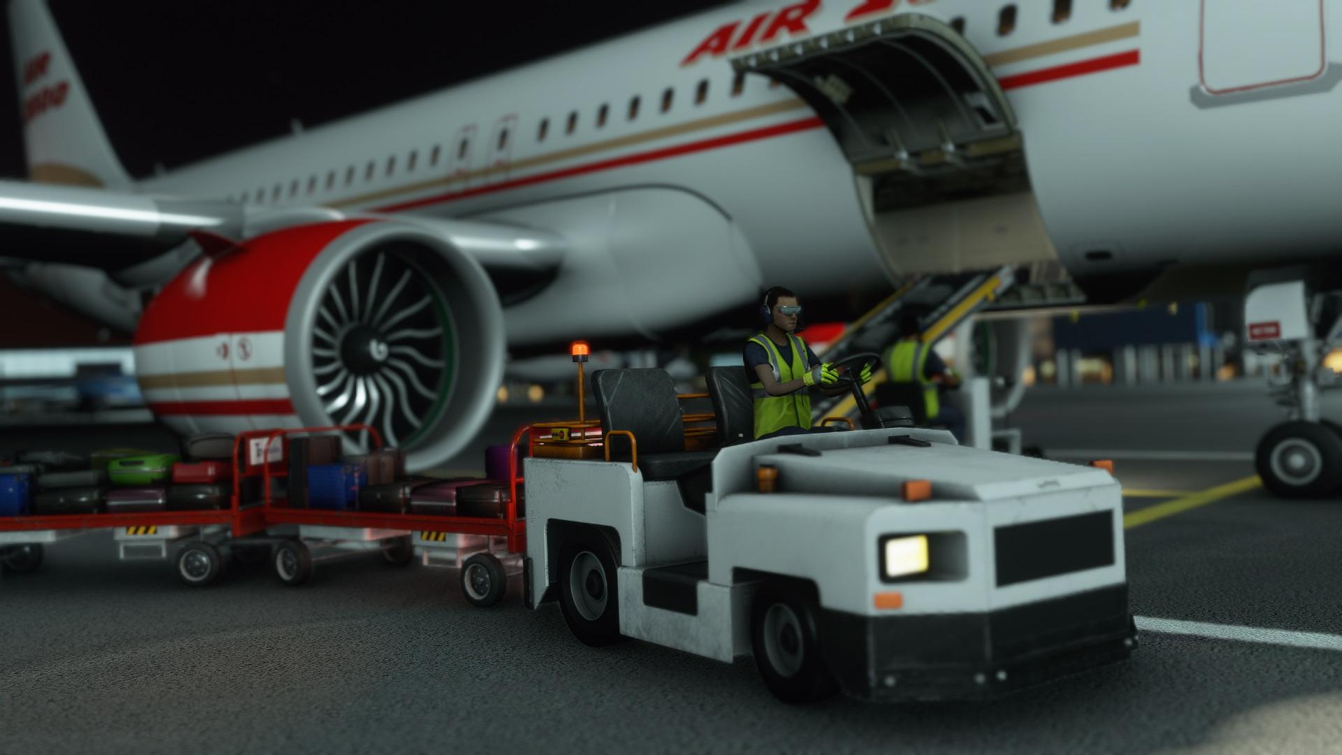 Microsoft Flight Simulator A320 Luggage Loading sim update 4