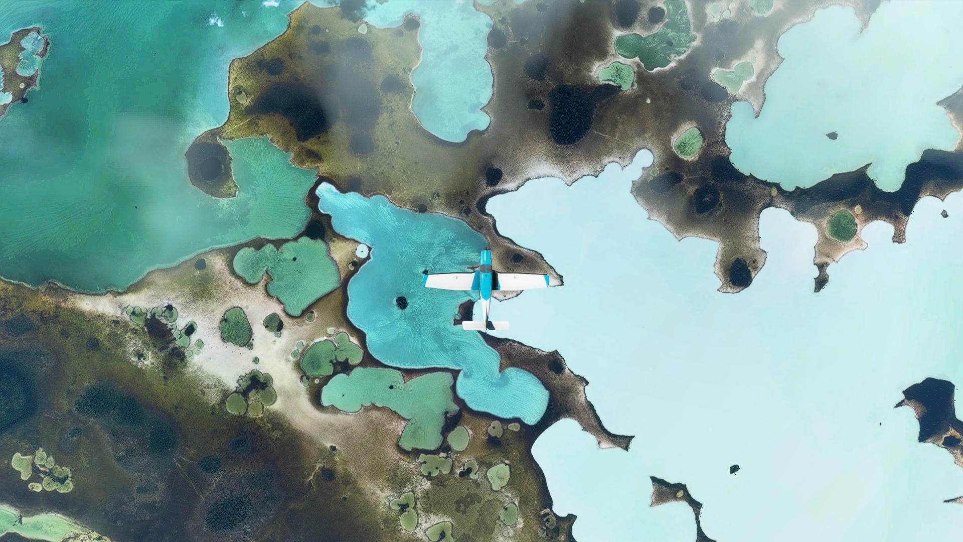 Microsoft Flight Simulator Andros Island Top Down Lagoons