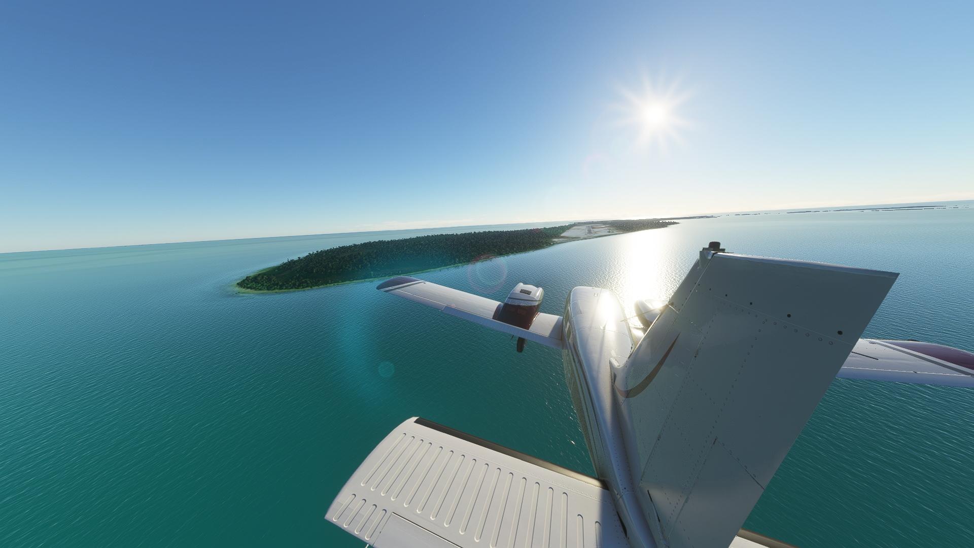 Flight Simulator Landing Bimini